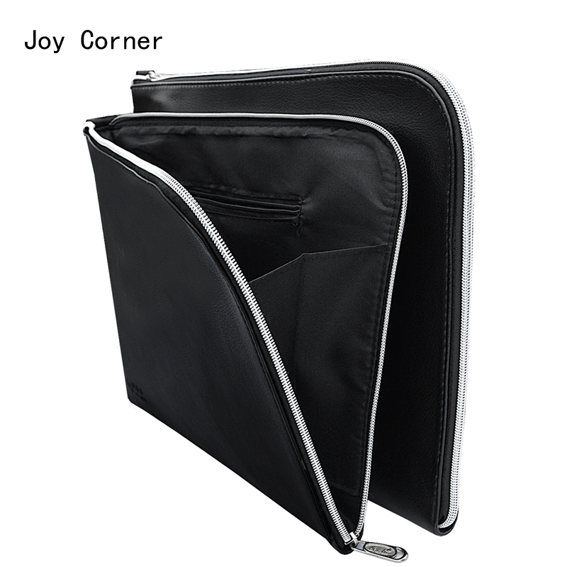 A4 PU Leather Folder A4 Paper Holder Office File Folders Leather-Folder-For-Papers Documents Bag Documentation Organizer Carpeta hua jie pu leather portfolio pocket folder card holders a4 paper file document organizer bag for meeting menu covers restaurants