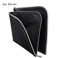 A4 PU Leather Folder A4 Paper Holder Office File Folders Leather Folder For Papers Documents Bag