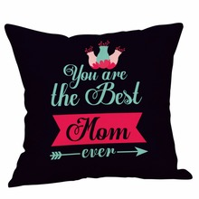 Pillow Case Cover Square 45cm*45cm Linen Pillow Cases Bedding Happy Mother's Day Sofa Bed Home Decoration Festival L531 3 day pass main square festival 2017