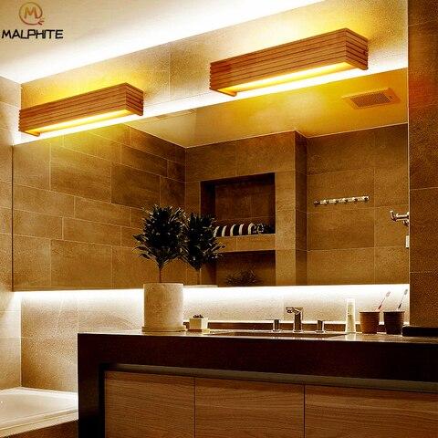 madeira moderna led luzes parede do