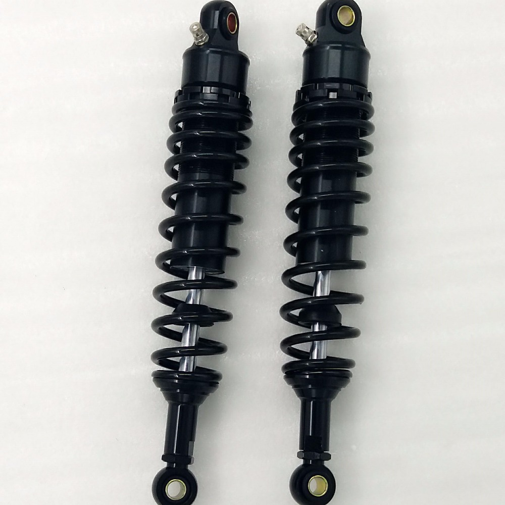 new 1 Pair universal 320mm Black Motorcycle Dirt Bike Rear Suspension Air Shock Absorber all Black 2pc new rear left and right pair shocks struts absorber for isuzu npr 1986 2016 all nqr 2000 2016 all oem 66618 suspension car