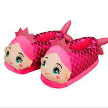 Mermaid All-Inclusive Shoes Cartoon Slippers Home Plush Cotton Slippers In The Bedroom  26cm	H405 межсетевой экран d link dsr 150