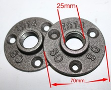 Base Diameter:7CM Cast iron Industrial pipes flange wall base pipe support (-DN20-3/4Pipe  Hole ID:25MM )