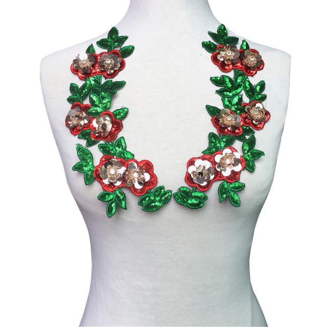 Нашивки из страз с цветком и пайетками, 3D нашивки в виде растений, для одежды, Аппликации, сделай сам, патч, аксессуары, pardados Ropa AC1357
