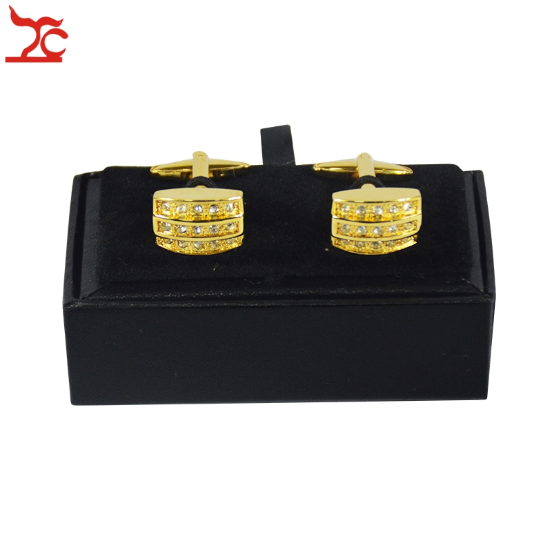 Hot Sale Cufflinks Box 40Pcs Black Leather Gemelos Cufflink Storage Boxes Cuff links Display Packaging Organizer Case 8*4*3cm-in Jewelry Packaging & Display from Jewelry & Accessories    1