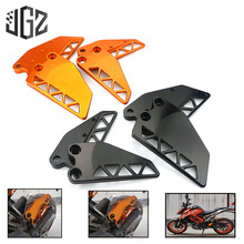 Motorcycle CNC Aluminum Front Rear Foot Protection Cover Mount Heel Guard Protector Shield for KTM DUKE 250 390 2017 2018 2019 free shipping orange motorcycle cnc aluminum front sprocket cover engine chain guard protection for for ktm duke 390