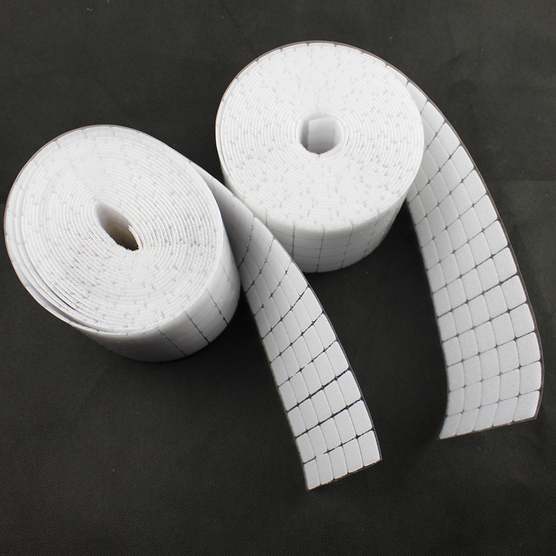 300Pairs New 20*20mm Adhesive Fastener Tape Nylon Polyester Hook And Loop Square Magic Sticker Tape Strong Self Adhesive Tape