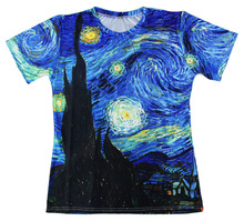 Harajuku t-shirt Men/Women Vincent Van Gogh oil painting Starry Night Print 3d t shirt Unisex Casual short-sleeved S-6XL R1585