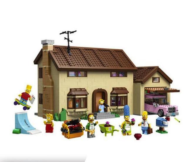 DHL  16005 2575Pcs the Simpsons House Model Building Block Bricks Compatible  71006 Boy gift