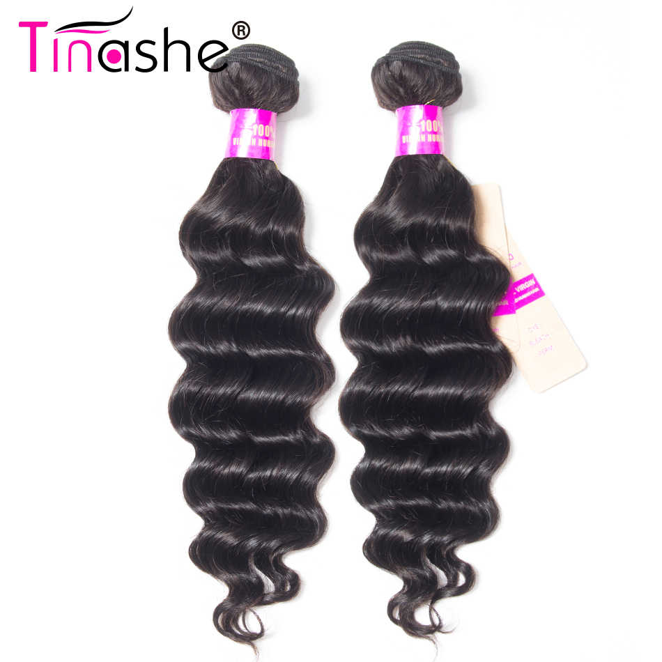 Tinashe Haar Losse Diepe Golf Bundels Remy Human Hair 3 Bundels Natuurlijke Kleur Haarverlenging Braziliaans Haar Weave Bundels