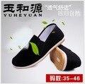 Новый Старый Пекин черный ткань обувь Unise круглый рот мокасины повседневная хлопок ткань чистка Супер мягкое дно противоскользящих рабочая обувь 35-46