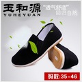 new Old Peking black cloth shoes Unise round mouth loafers casual cotton cloth shoe Super soft bottom anti-slip work shoes 35-46