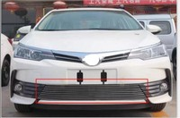 Car Styling For 2017 Toyota Corolla Aluminium Alloy Chrome Front Grille Around Trim Racing Grills Trim