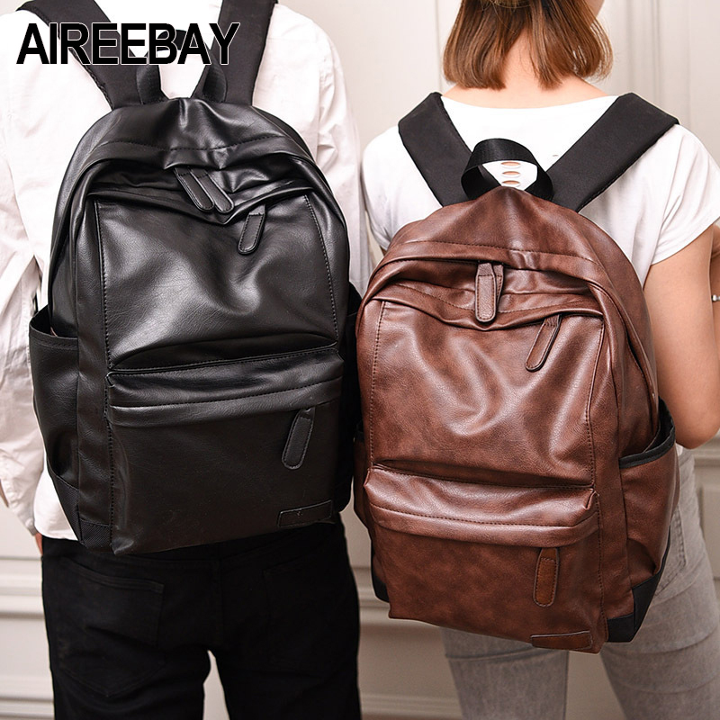 AIREEBAY Brand New Men Backpack Leather Vintage
