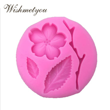 WISHMETYOU Plum Flower Branches leaves Romantic Valentines Day Cake Decorating Tools Chocolate candy kitchen baking decorative