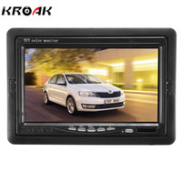 7 Inch TFT LCD Screen Car Monitor Rearview Screen For CCTV Reversing Rear View Backup Camera+Remote Control