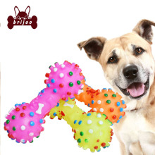 Brijoo Pet Toys Chew Squeaker Bauble Cute Bone Shape Toy for Small Medium Large Dogs Puppy Cat Pet Training Supplies Dog Bauble