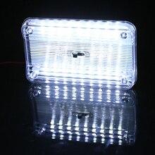 115x72x15 мм 36 SMD авто купольсветодио дный Светодиодная потолочная внутренняя прямоугольная-белая потолочная лампа для В 12 В автомобилей
