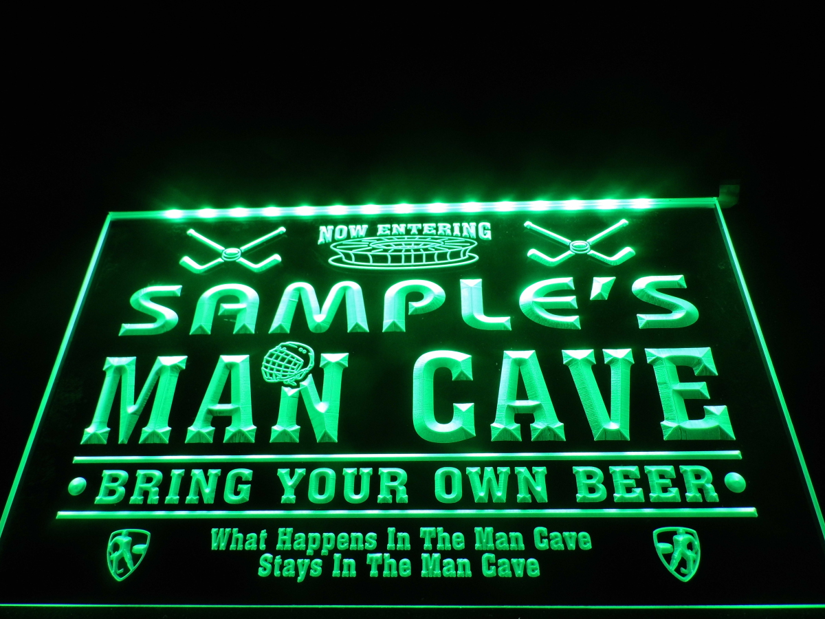 dz035 name personalized custom man cave hockey bar beer neon sign hang sign home decor crafts in. Black Bedroom Furniture Sets. Home Design Ideas