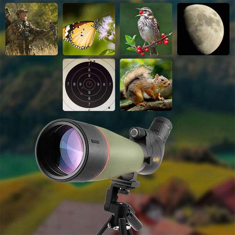 15 45X50 télescope monoculaire haute puissance Hd télescope Mobile extérieur basse lumière Vision nocturne télescope Portable pour montre d'oiseau - 4