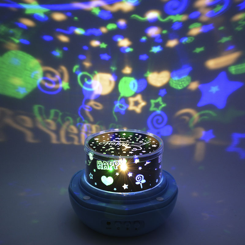 New exotic led flower star projector lamp Dream Rose Table Lamp USB rotary projector sta ...