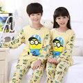 2pcs/sets 2016 Boy & Girl Pajamas Kids Printed Long Sleeve Tops+Pants Children's Nightwear Sleepwear Students Boys Pyjamas Sets