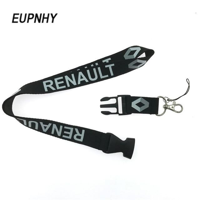 EUPNHY 1 Pcs Renault Logotipo Do Carro Cordão Alça de Pescoço Destacável carteira de Trabalho Cartão de IDENTIFICAÇÃO Colhedores de Telefone Celular Pendurar Corda