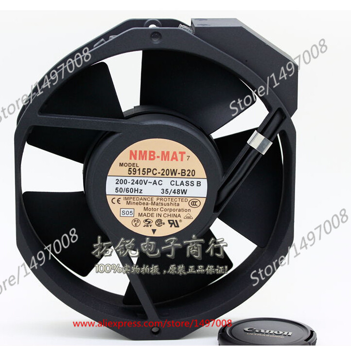 Free Shipping For  NMB 5915PC-20W-B20, S05  AC 200V 35W 2-pin, 172x150x38mm Server Square fan free shipping for adda aa8382hb aw s ac 220 240v 0 07 0 06a 2 pin 80x80x38mm server square fan free shipping