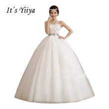Дешевые свадебные платья ручной работы It's YiiYa, свадебное платье беременная принцесса, дешево, весна-лето,XXN086