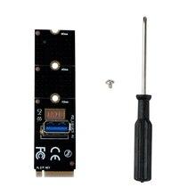 M.2 для USB3.0 конвертер адаптер графическая карта расширитель карты M.2 NGFF на PCI-E 1x к 16x Райзер-карта