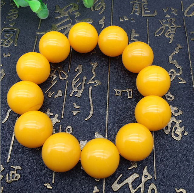 XUEYUN Natural Beeswax Old Round Bead Bracelet Chicken - How to create a commercial invoice online bead stores