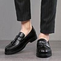 2019 Men Dress shoes formal shoes men's Handmade business shoes wedding Leather Men Oxfords shoes