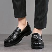 2020 homens vestido sapatos formais sapatos masculinos feitos à mão de negócios casamento couro masculino oxfords