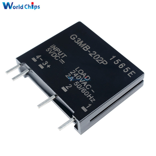 Relay Module G3MB-202P G3MB 202P DC-AC PCB SSR In 5V DC Out 240V AC 2A Solid State Relay Module