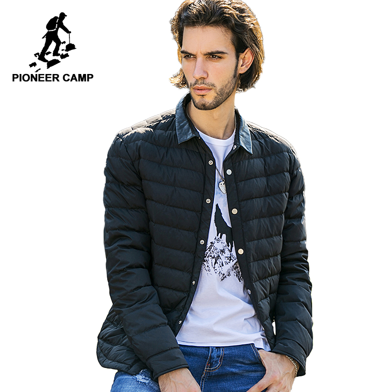 Pioneer Camp casual winter down jacket men top quality brand clothing down coat men casual winter coat male parkas for men