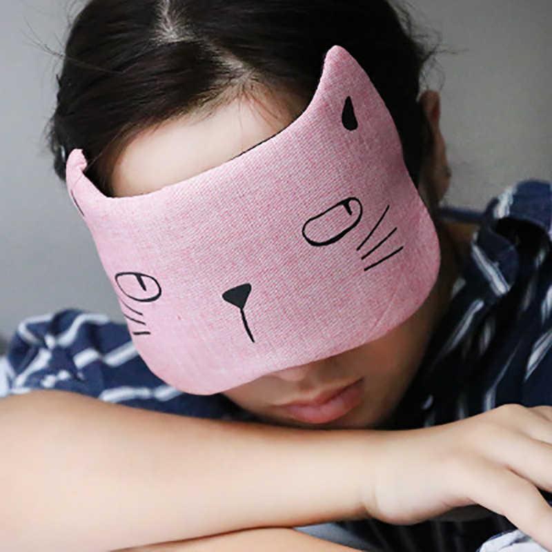 1 pc Sleeping Aid Eye Mask นวดผ่อนคลายน่ารักการ์ตูนสัตว์ Cat Eye Patch Shade Blindfold Eye Sleeping Patch