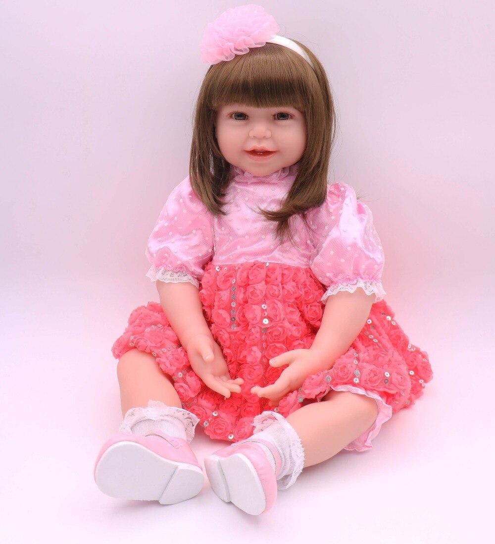 "24/"" Reborn Baby Dolls Handmade Vinyl Silicone Toddler Newborn Girl Doll Toy Gift"