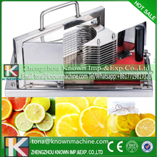 2016 new condition hand-operated 4 mm knife distance lemon tomato vegetable slicer machine stainless with waveform blade