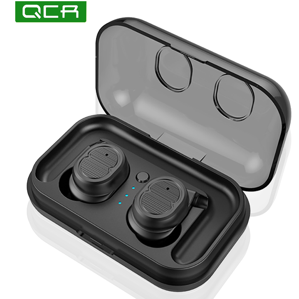 QCR Wireless Bluetooth Earphone <font><b>T8</b></font> <font><b>TWS</b></font> Sport V5.0 Headset Touch Control True Earbuds IPX5 Waterproof Bass 6D Stereo Head-free image