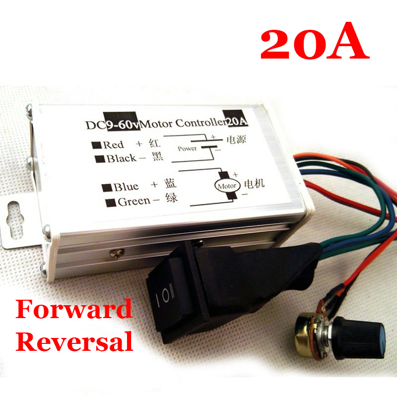 20a Dc Motor Variable Speed Reverse Switch Pulse Width Pwm