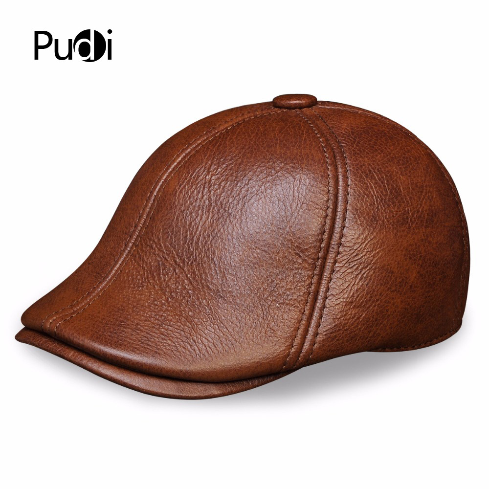 HL110 genuine leather men baseball cap hat men's real skin leather adult solid adjustable hats caps with 3 colors 35colors silver gold soild india scarf cap warmer ear caps yoga hedging headwrap men and women beanies multicolor fold hat 1pc