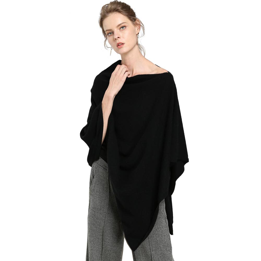 a3afd04a4 100% Goat Cashmere Scarves Poncho 2018 Cardigans Christmas Gift Lady Soft  Warm Fluffy Outwear Clothes High End Style Tops -in Women's Scarves from  Apparel ...