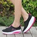 Женщины Повседневная Обувь Сетка Летние Дышащая Обувь Лифт Высота Увеличение Zapatos Mujer Свет Женский Досуг Уличной Обуви