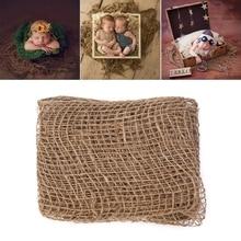 Новорожденный джутовый фон одеяло для детской фотосъемки массивный слой мешковины Net-m20