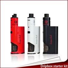 100% original kanger dripbox + starter kit alimentador inferior 60 w reemplazable kangertech dripbox + 7 ml con subdrip y dripmod dripcoils