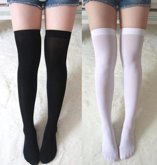 50eca2d3a66 Cosplaydiy Whole Sale Japanese School Uniform Stocking Women s Lolita Over-knee  sock Cosplay Stockings Girls Long Socks L0516