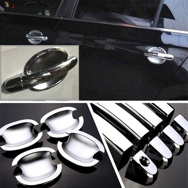 $ 20.99 Non-Rusty Chrome Door Handle Bowl Cover Cup Overlay Trim For VW Santana