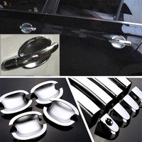 Non Rusty Chrome Door Handle Bowl Cover Cup Overlay Trim For VW Santana