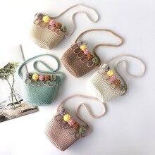 Bags for Women 2019 Fashion Girls Shoulder Bag Straw Rattan Weave Crossbody Baby bolsos mujer