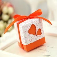 2016 100pcs Square Wedding Favor Boxes Wedding Candy Box Wedding Favors And Gifts Event Party Supplies